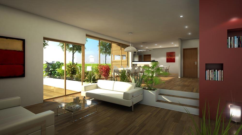 Cabinet serge roux architecte dplg for Belle maison interieur