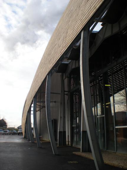 Vue sur la composition de la façade